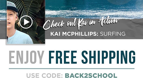 Set sail for school with Kai McPhillips and family + get free shipping thru 7/14.
