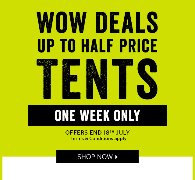 WOW Deals - Up To Half Price Tents  sc 1 st  Milled & Go Outdoors: ? Limited time only! WOW Flash tent deals | Up to ½ ...