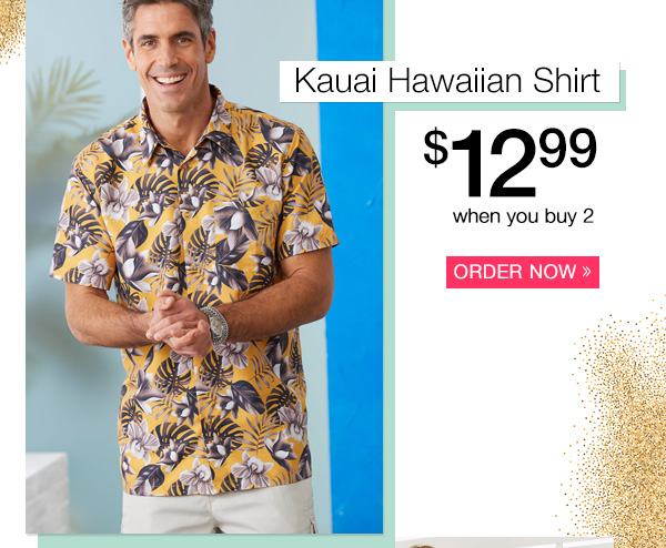 Casual Joe® Kauai Hawaiian Shirt