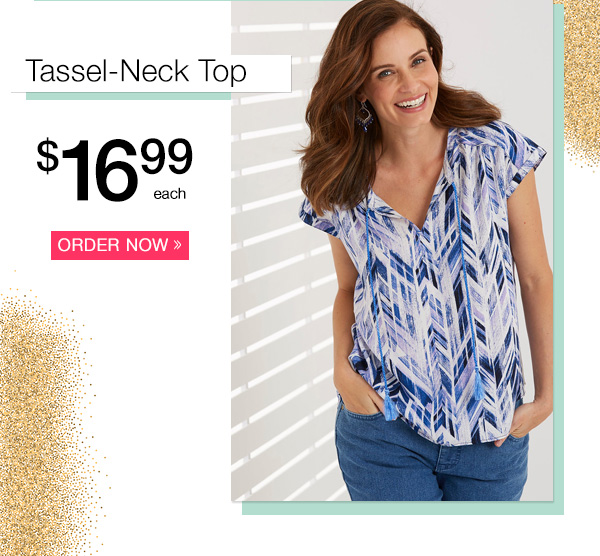 Tassel-Neck Top