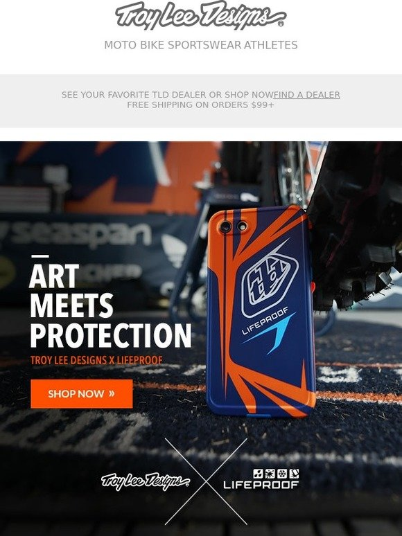 detailed look f99d3 080c7 Troy Lee Designs: Introducing the TLD / Lifeproof Collab IPhone7 ...