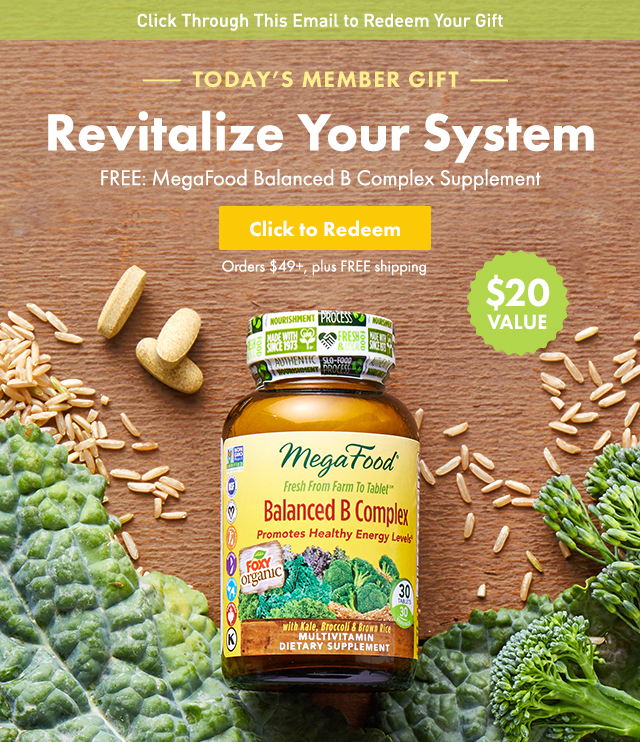 Thrive Market: FREE gift: a month's worth of B vitamins ($20 value ...