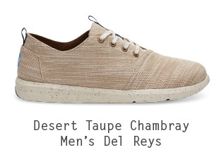 Desert Taupe Chambray Men's Del Rey Sneakers