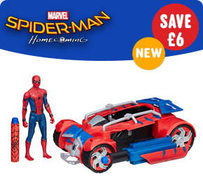 Marvel Spider-Man Homecoming Spider-Man With Spider Racer Vehicle