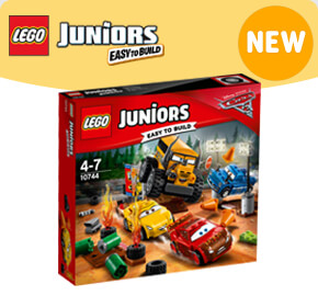 LEGO 10744 Juniors Disney Pixar Cars Thunder Hollow Crazy 8 Race