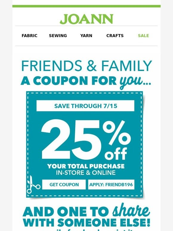 Joann Fabrics Coupons | Printable Coupons Online with regard to Joann Fabric  Printable Coupon 15905