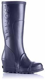 A tall black rain boot.