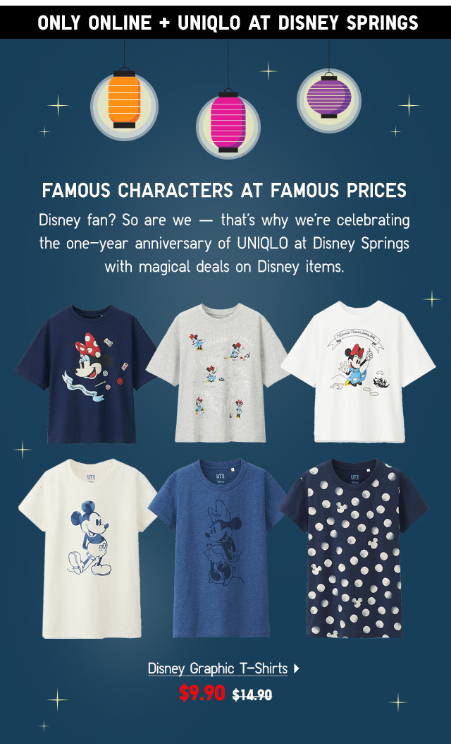 Disney Graphic T-Shirts -- NOW $9.90
