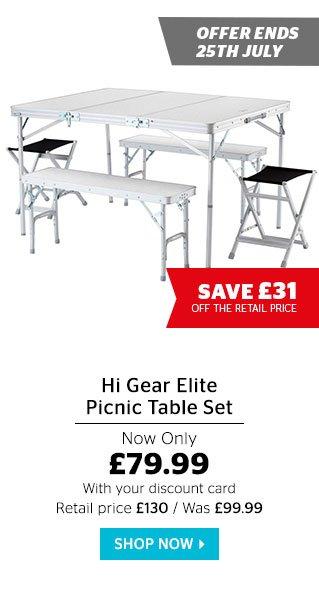 Hi Gear Elite Picnic Table