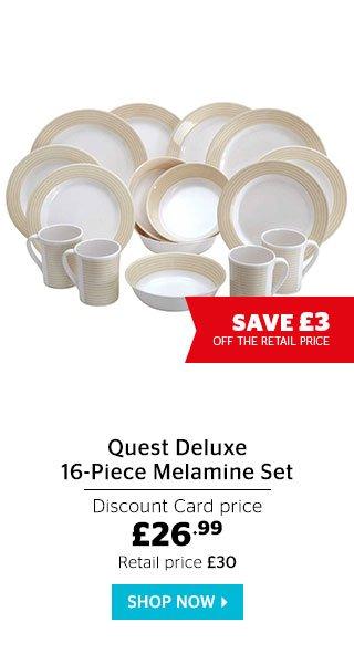 Quest Deluxe 16-Piece Melamine Set