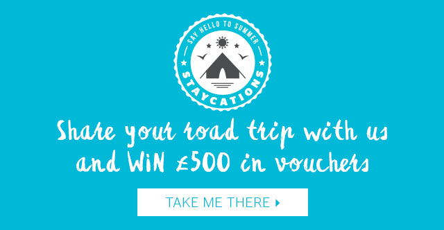 Share your road trip with us and WIN £500 in vouchers