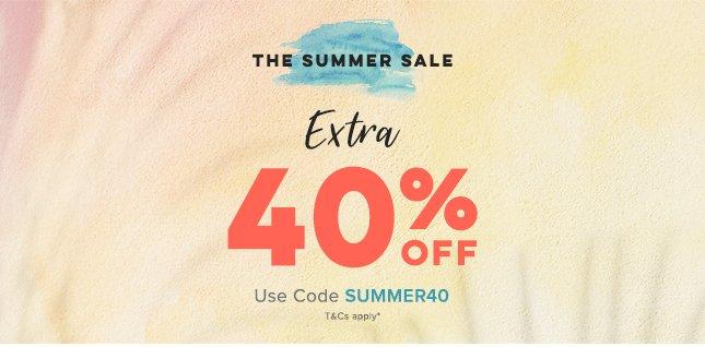 Extra 40 Off Summer