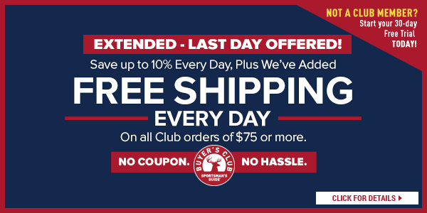 Extended - Last Day Offered! Free Shipping on Club orders of $75 or More!
