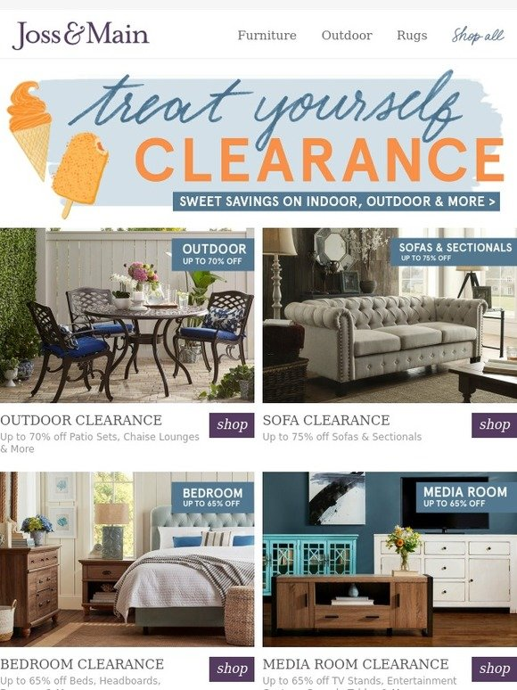 Joss U0026 Main: Up To 70% Off Outdoor Furniture U0026 More. The Treat Yourself  Clearance Is Here! | Milled