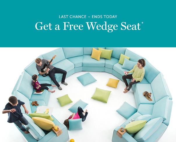 LoveSac: Hurry, friend – Last Chance for a FREE Wedge Seat