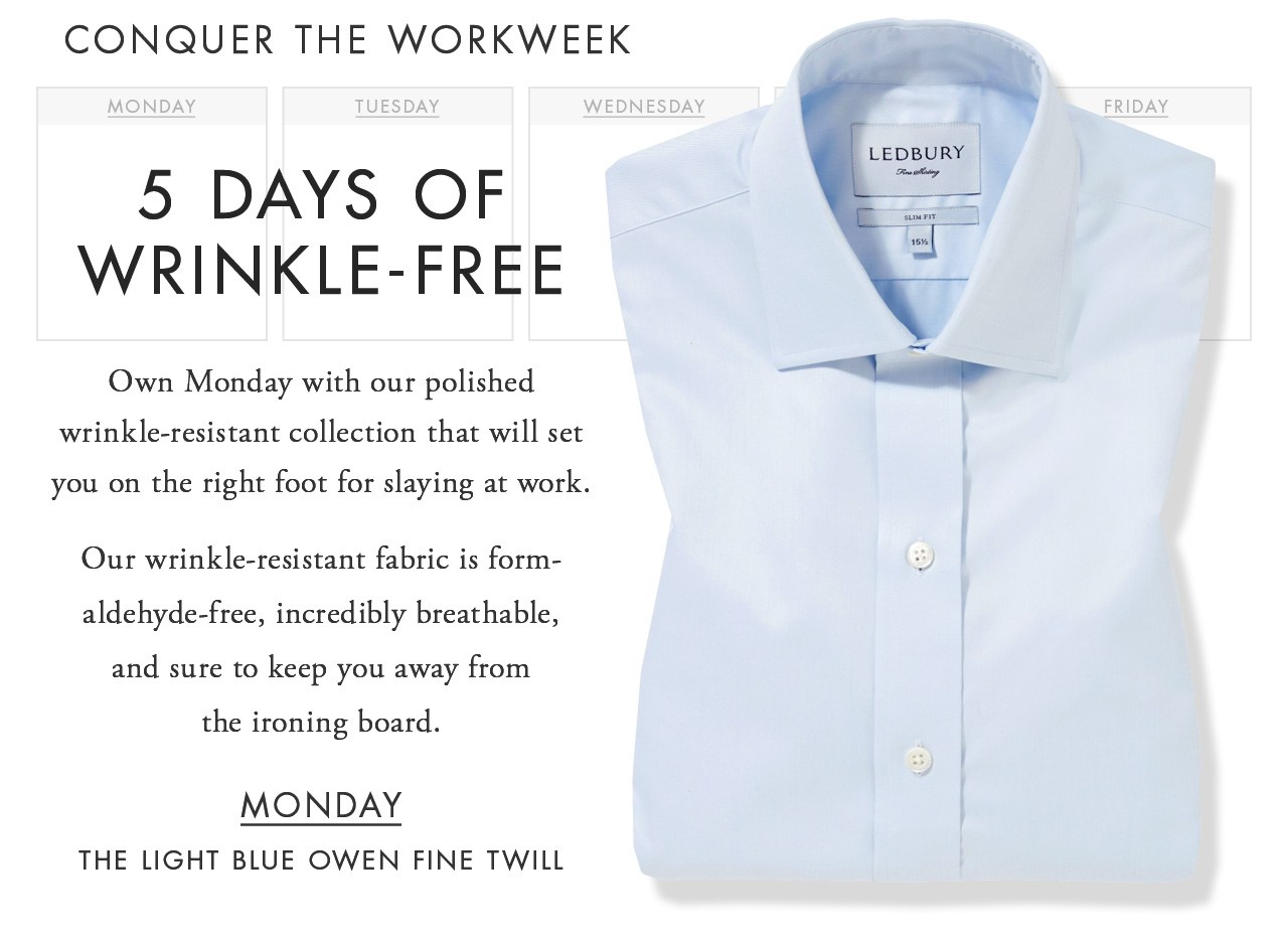 Ledbury 5 Days Of Wrinkle Free Shirts Milled