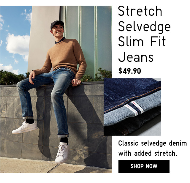 Men's Stretch Selvedge Jeans -- SHOP NOW