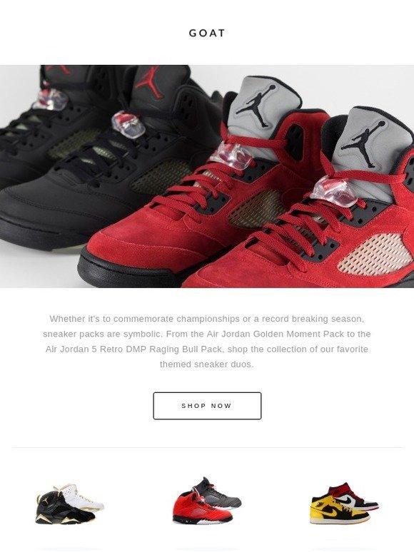 38c5decc40462f GOAT  Sneaker Packs  Air Jordan Golden Moment Pack