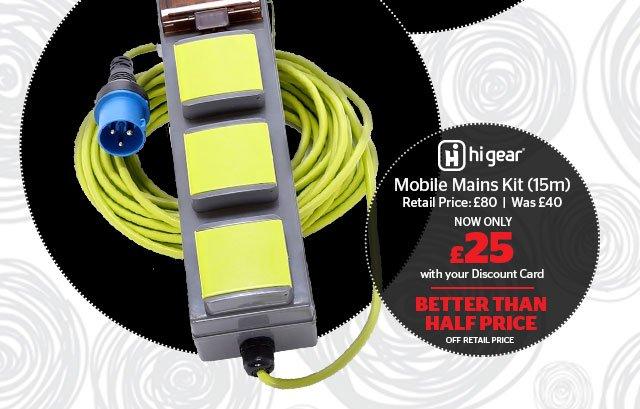 Hi Gear Mobile Mains Kit
