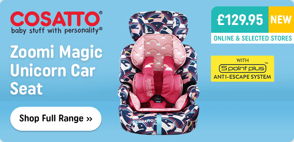 Cosatto Zoomi Group 1-2-3 Magic Unicorn Car Seat