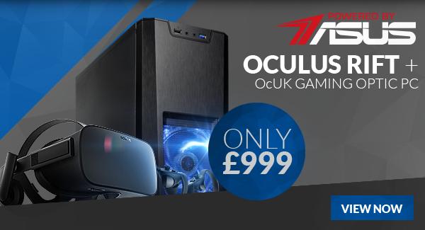 9420acaf3131 Overclockers.co.uk  Oculus Rift + VR PC Bundle only £999. Arctis ...