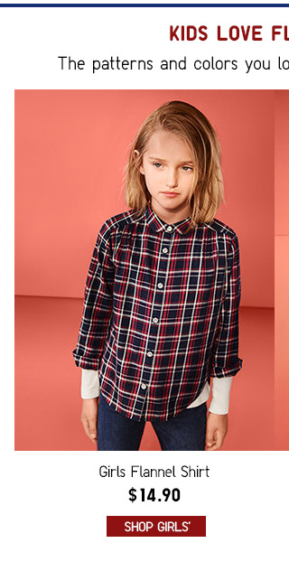 FLANNEL FOR KIDS $14.90