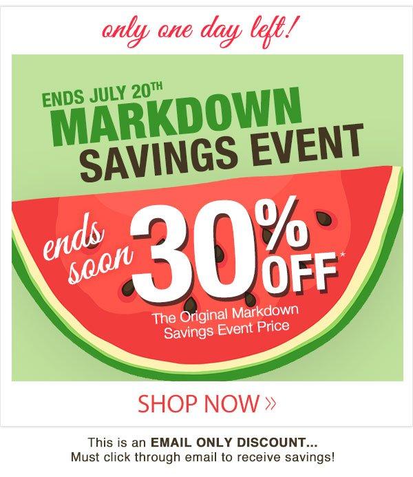 Markdown Savings Event!