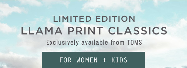 Llama Print Classics for Women + Kids