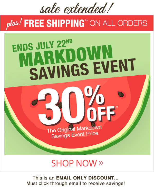 Markdown Savings Event!
