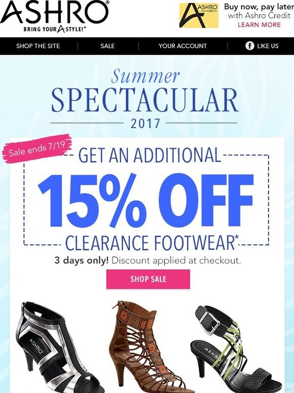 Save Even More on Clearance Footwear