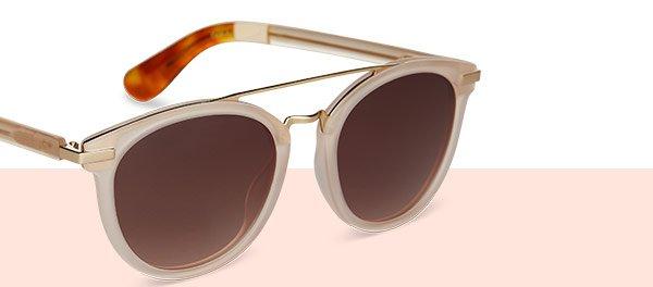 Harlan Matte Champagne Sunglasses