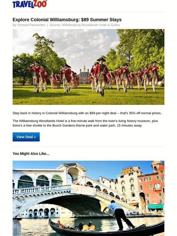 travelzoo explore colonial williamsburg 89 summer stays