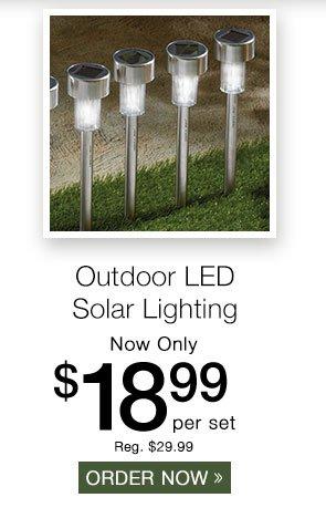 Sharper Image Outdoor LED Solar Lighting