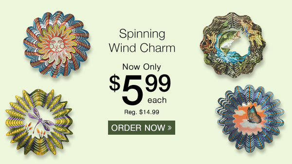 Spinning Wind Charm