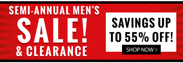 Men's Clearance up to 55% OFF!