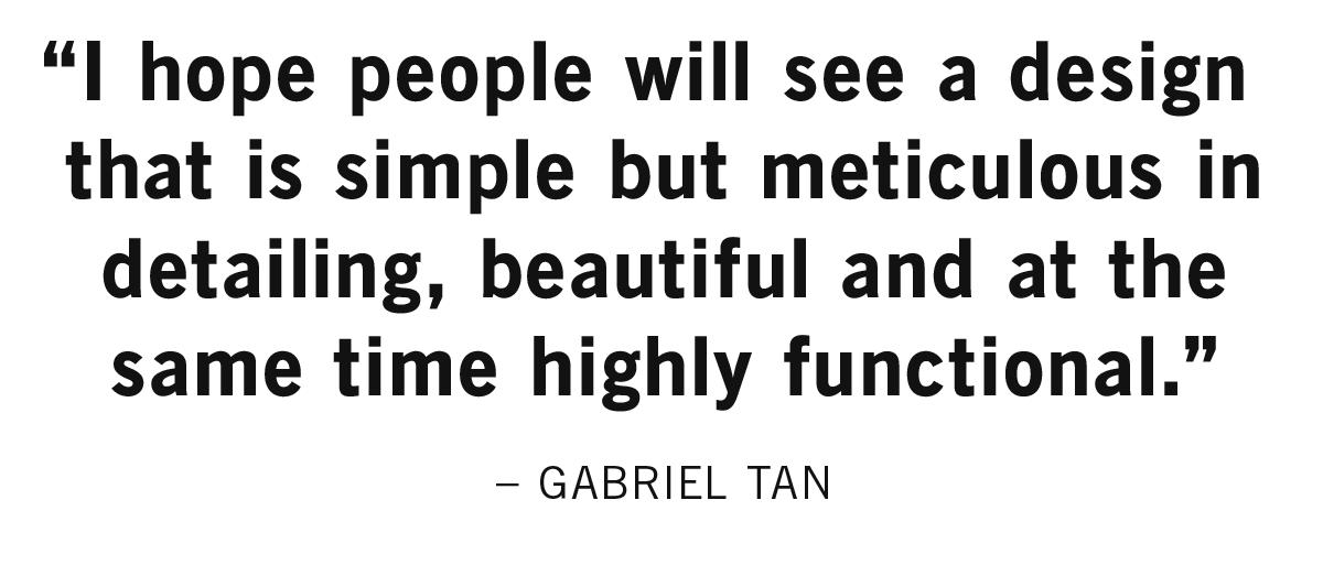 Designer Gabrial Tan