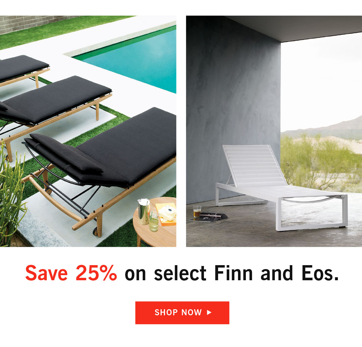 Save 25% on select Finn and Eos outdoor collection