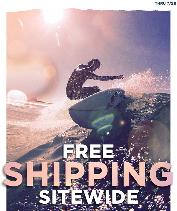 Free shipping sitewide through 7/28 with code SEAVIEW.