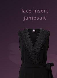 LIPSY LACE INSERT JUMPSUIT