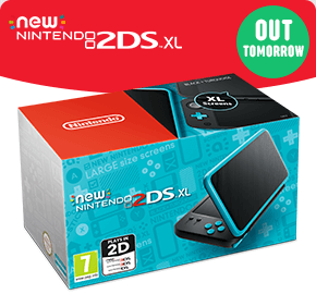 New Nintendo 2DS XL Console Black & Turquoise