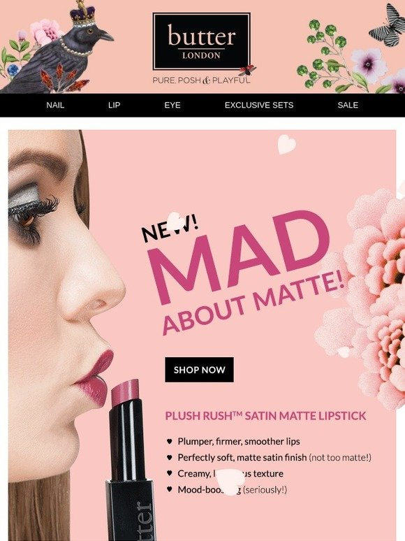 Butter London: New! Satin Matte Lipstick | Milled