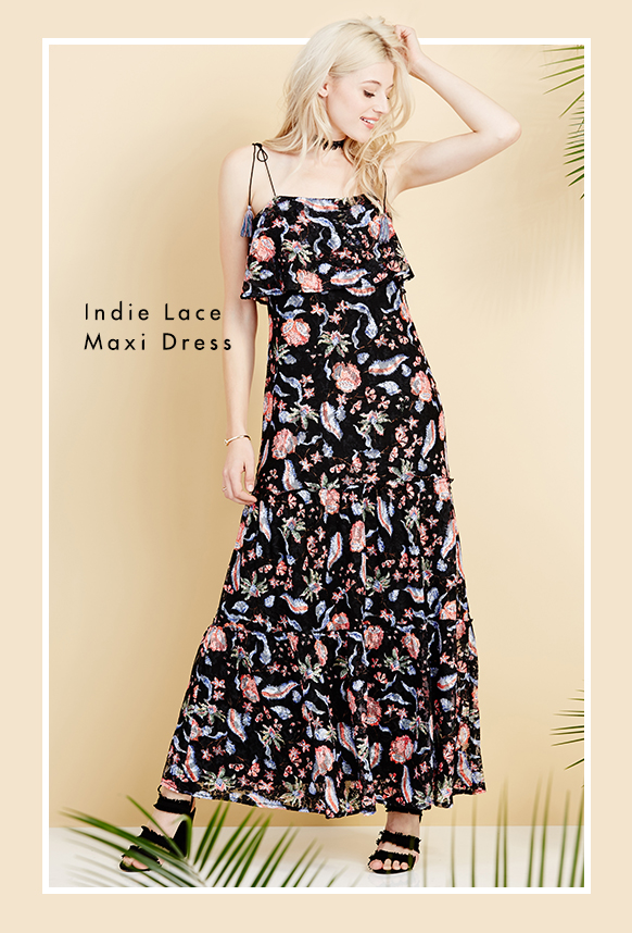 Indie Lace Maxi Dress