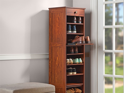 The Slide Out Shoe Storage Tower