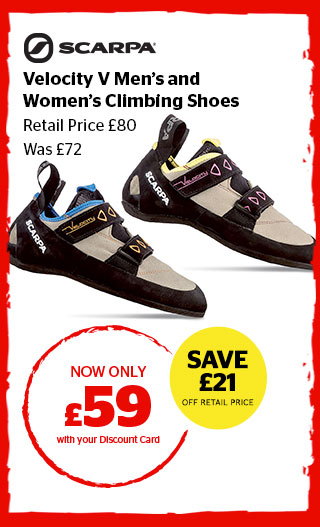 Scarpa Velocity V Men's and Women's Climbing Shoes