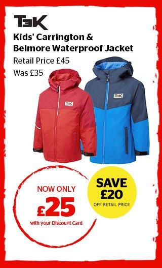 T3K Kids' Carrington & Belmore Waterproof Jacket