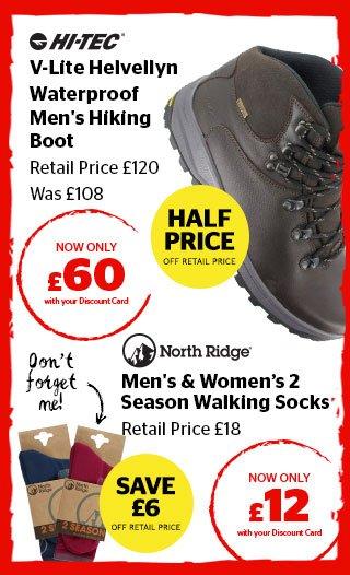 Hi Tec V-Lite Helvellyn Waterproof Men's Hiking Boots