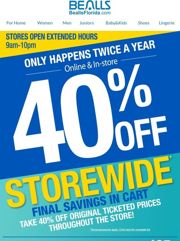 Bealls Florida 40 Off Storewide Only Happens Twice A Year Free