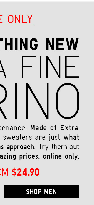 TRY SOMETHING NEW - Extra Fine Merino