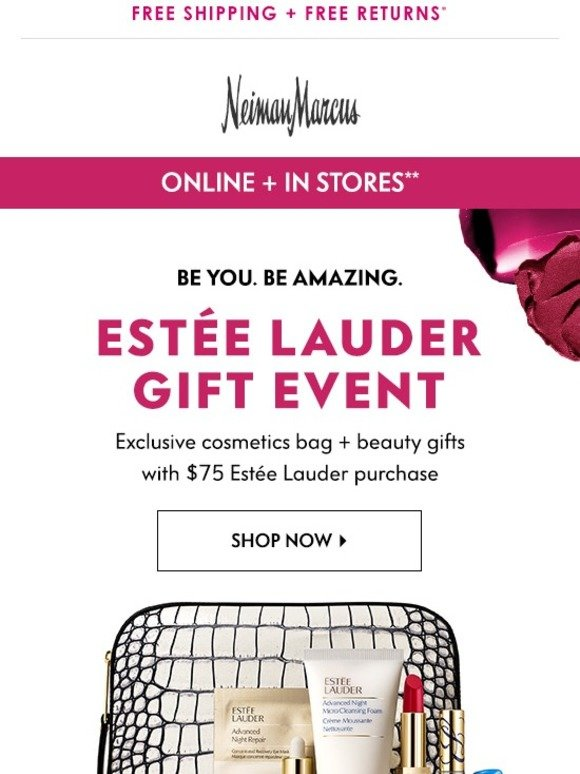 Neiman Marcus: Estee Lauder Gift Event | Not to be missed! | Milled