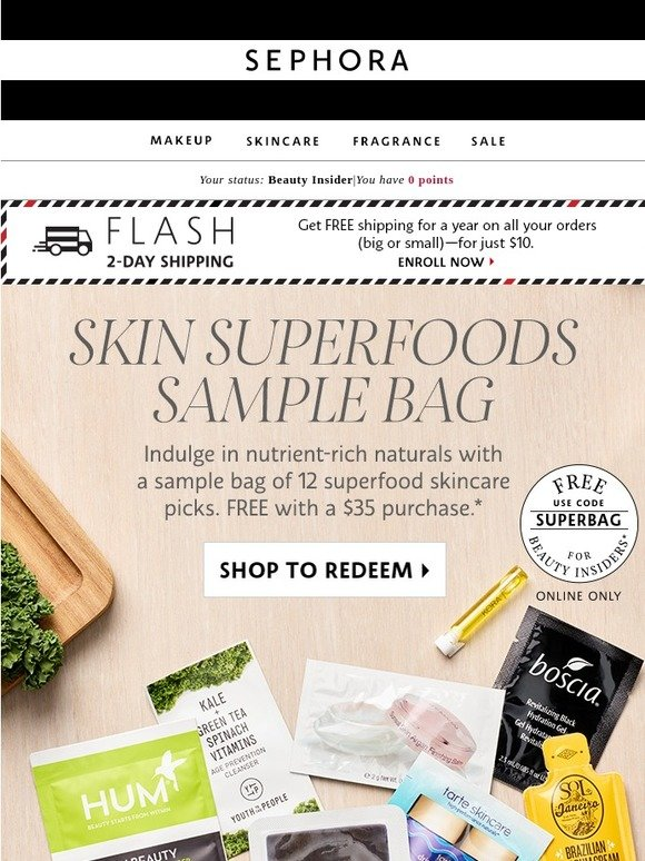 Sephora: Get 12 (yes, 12!) skincare samples 🌿 | Milled